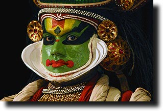 Kathakali dancer in Fort Kochi, Kerala